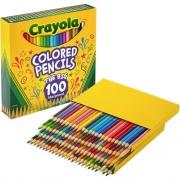 Crayola 100-count Colored Pencils - Unique Colors - Pre-sharpened (688100)