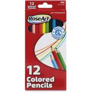 Mattel RoseArt Pre-Sharpened 12 Colored Pencils (DFB59)