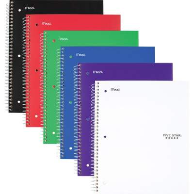 ACCO Five Star Wirebound Wide Rule 1-Subject Notebook (05200)