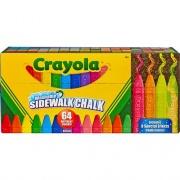 Crayola Sidewalk Chalk 64 Count Washable anti-roll sticks (512064)