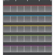 Teacher Created Resources Black Dots Storage Pocket Chart (20750)