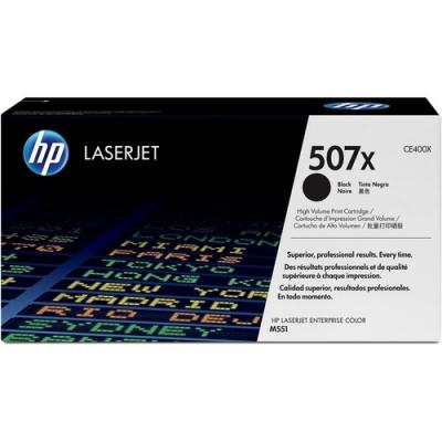 HP 507X High Yield Black Original LaserJet Toner Cartridge (CE400X)