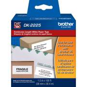 Brother DK2225 - Black on White Continuous Length Paper Labels