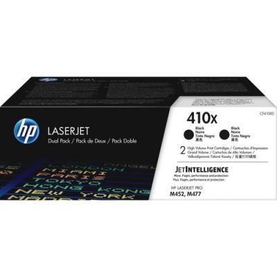 HP 410X 2-pack High Yield Black Original LaserJet Toner Cartridges (CF410XD)