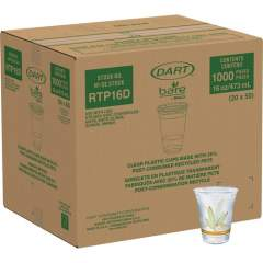 Dart Bare Eco-Forward RPET Clear Cold Cups (RTP16DBARECT)