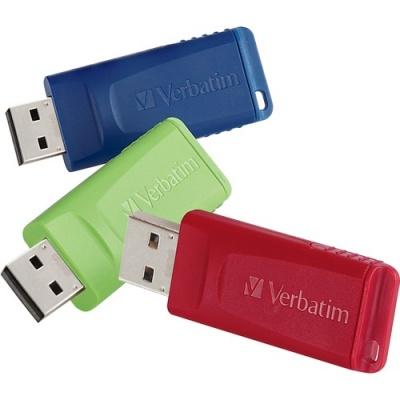Verbatim 16GB Store 'n' Go USB Flash Drive - 3pk - Red, Green, Blue (99122)
