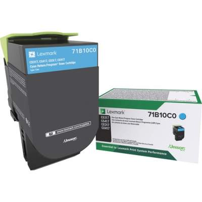 Lexmark Toner Cartridge - Cyan (71B10C0)