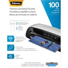 Fellowes Thermal Laminating Pouches - Letter, 3 mil, 100 pack (5743301)