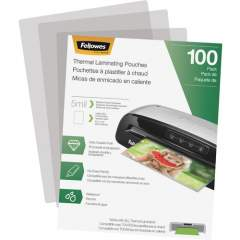 Fellowes Thermal Laminating Pouches - Letter, 5 mil, 100 pack (5743501)