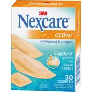 3M Nexcare Active Waterproof Bandages, 30 ct. Assorted (51630PB)