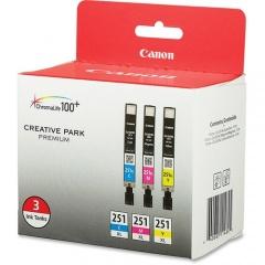 Canon CLI-251XL Original Ink Cartridge - Cyan, Magenta, Yellow (CLI251XLCMY)