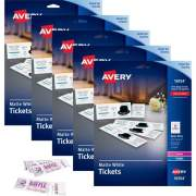 Avery Perforated Raffle Tickets with Tear-Away Stubs - 2-Sided Printing (16154CT)