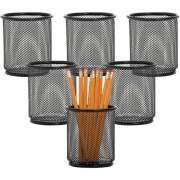 Lorell Black Mesh/Wire Pencil Cup Holder (84149BX)