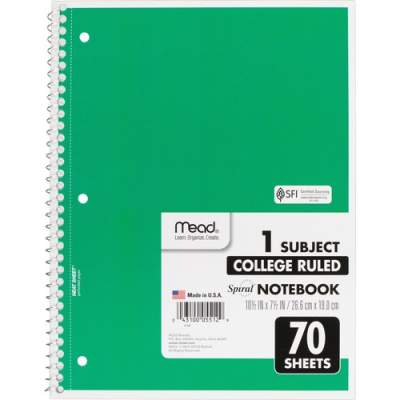 ACCO Mead One-subject Spiral Notebook (05512BD)