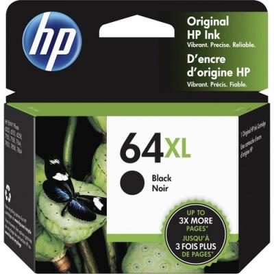 HP 64XL High Yield Black Original Ink Cartridge (N9J92AN)