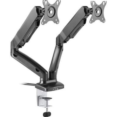 Lorell Active Office Mounting Arm for Monitor - Black (99978)