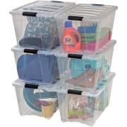 IRIS Stackable Clear Storage Boxes (100245)