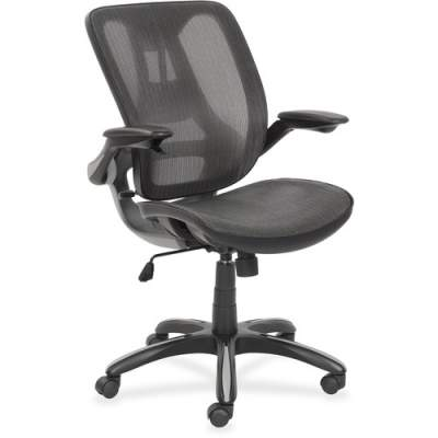 Lorell Mesh Back Chair with Flip-Up Arms (48774)