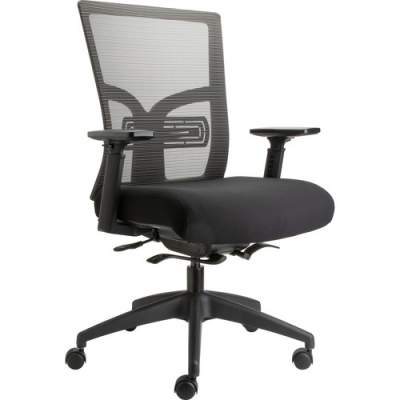 Lorell Mid-Back Mesh Chair with Adjustable Lumbar Support (62617)