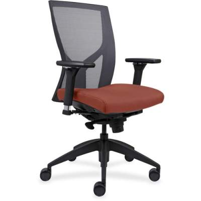 Lorell High-Back Mesh Chairs with Fabric Seat (83109A203)