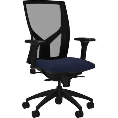 Lorell High-Back Mesh Chairs with Fabric Seat (83109A204)