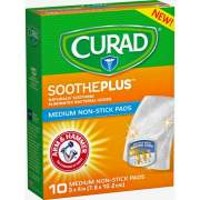 Medline Curad SoothePlus Medium Non-stick Pads (CUR47134AH)