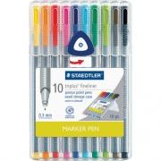 Staedtler Triplus Fineliner Marker Pen (334SB10US)