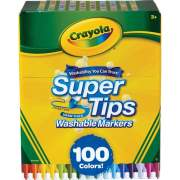 Crayola Super Tips Washable Markers 100 unique colors washable (585100)