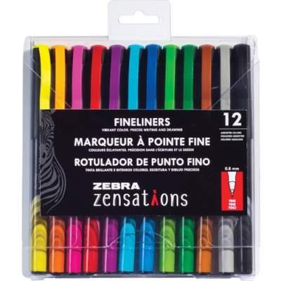 Zebra Pen Zensations Fineliner Pens (09012)