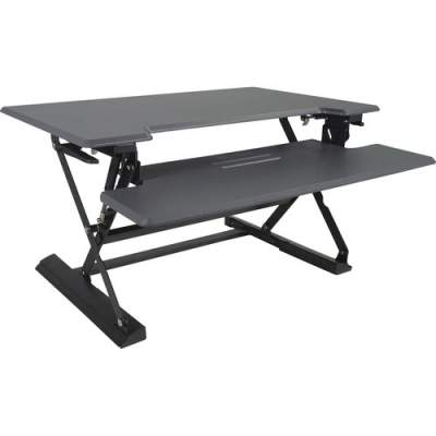 Victor High Rise Height Adjustable Standing Desk with Keyboard Tray