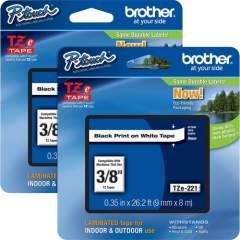 Brother P-touch TZe Laminated Tape Cartridges (TZE221BD)