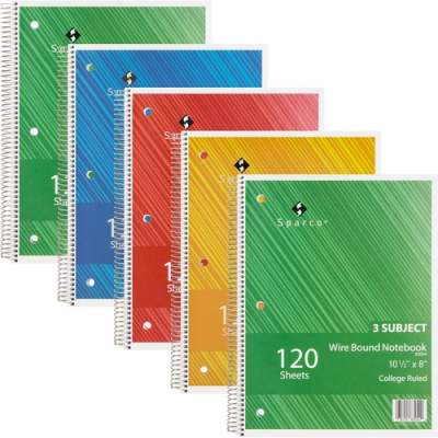 Sparco Products Sparco Wire Bound College Ruled Notebook (83254BD)