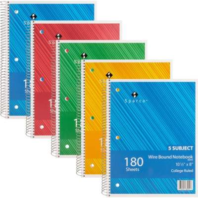 Sparco Products Sparco Wirebound College Ruled Notebooks (83255BD)