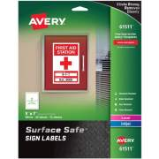 "Avery Surface Safe(R) Sign Labels, 5"" x 7"", Removable Adhesive, Water & Chemical Resistant, 30 Labels (61511)"