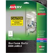 "Avery Surface Safe(R) Sign Labels, 7"" x 10"", Removable Adhesive, Water & Chemical Resistant, 15 Labels (61515)"