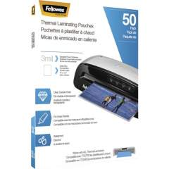 Fellowes Thermal Laminating Pouches - Letter, 3mil, 50 pack (5744301)