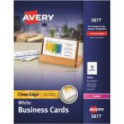 Avery Clean Edge(R) Business Cards, Uncoated, Two-Sided Printing,400 Cards (5877)