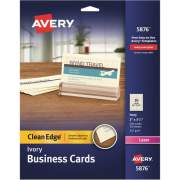 "Avery Clean Edge(R) Business Cards, Ivory, True Print(R) Two-Sided Printing, 2"" x 3-1/2"", 200 Cards (5876)"