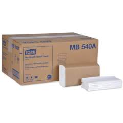 Tork Multifold Hand Towel, White, H2, Universal, 3-Panel, 100% Recycled Fibers, 1-Ply, 16 x 250 Sheets - MB540A