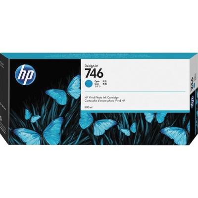 HP 746 300-ml Cyan DesignJet Ink Cartridge (P2V80A)