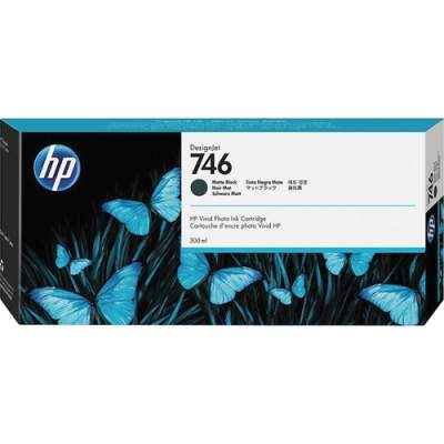 HP 746 300-ml Matte Black DesignJet Ink Cartridge (P2V83A)