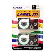 Casio EZ-Label Printer Tape Cartridges (XR9WE2S)