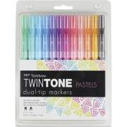 Tombow TwinTone Pastels Dual-tip Marker Set (61501)
