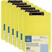 Business Source Flat Clip Plastic Clipboard (01867BD)