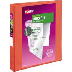 "Avery Durable View 3 Ring Binder, 1"" Slant Rings, 1 Orange Binder (34151)"