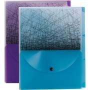 Smead Poly Fashion 3-divider Travel Organizer File (85735)