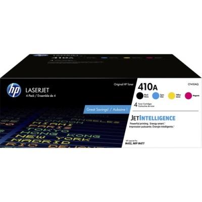 HP 410A 4-pack Black/Cyan/Magenta/Yellow Original LaserJet Toner Cartridges (CF410AQ)