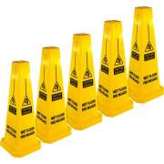 Genuine Joe Bright 4-sided CAUTION Safety Cone (58880CT)
