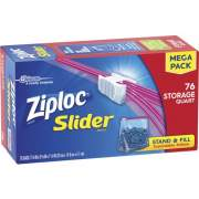 S. C. Johnson & Son Ziploc Brand Slider Quart Storage Bags (662102)