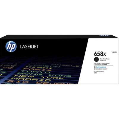 HP 658X High Yield Black Original LaserJet Toner Cartridge (W2000X)
